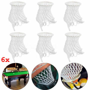 6pcs-Replacement-Billiard-Snooker-Table-Cotton-Nets-Mesh-Pockets-White-UK-Seller