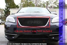 GTG 2011 - 2014 Chrysler 200 1PC Gloss Black Upper Insert Billet Grille Grill