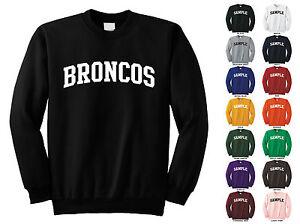 Broncos Adult Crewneck Sweatshirt College Letter