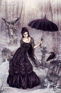Victoria-Frances-Parasol-Girl-POSTER-90cm-x-60cm-NEW-angel-grave-gothic