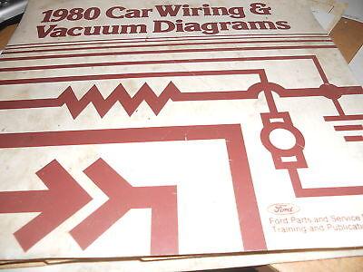 1980 FORD FAIRMONT MERCURY ZEPHYR WIRING DIAGRAMS SHEETS SET | eBayeBay
