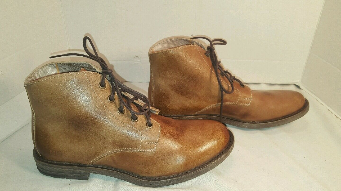 NEW Uomo BED LEATHER STU TAN RUSTIC HOOVER MILITARY INSPIROSSO LEATHER BED ANKLE BOOTS US 8 6371e7