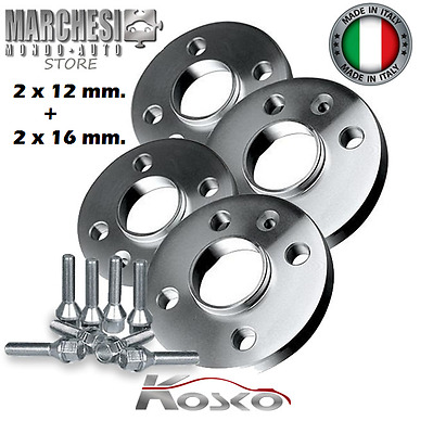 KIT 4 DISTANZIALI RUOTA 16+16mm ALFA ROMEO GT Bullone CONICO