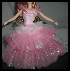 dress barbie doll nutcracker pink layered tulle ballet