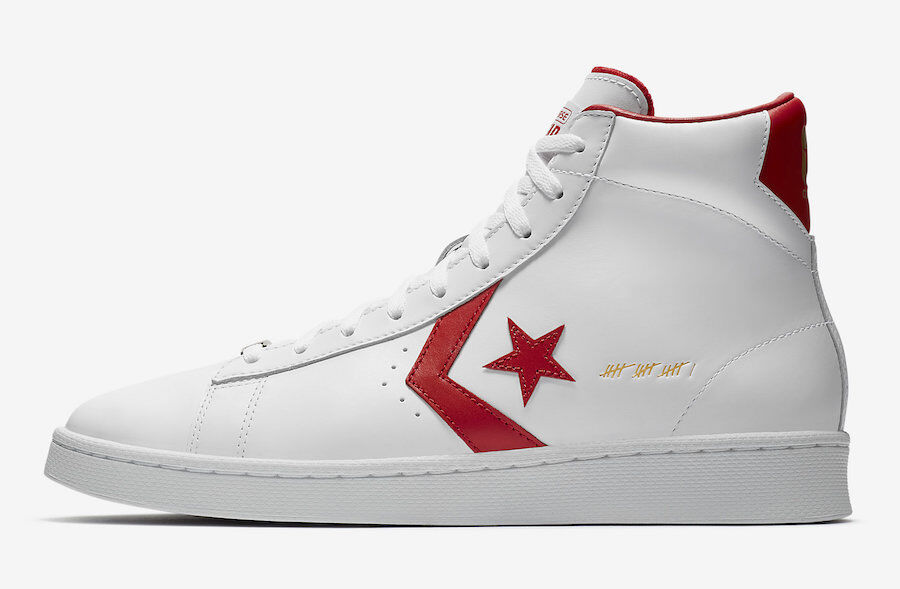 Converse Pro Leather Mid la 16 pala Dr J pensar 16 la Rojo/Blanco 161328C campeón 78f5a9