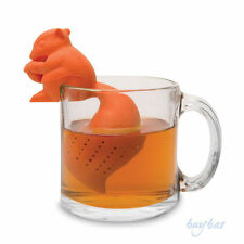 Squirrel Silicone Loose Green Herbal Grey Tea Infuser gift birthday infusion UK