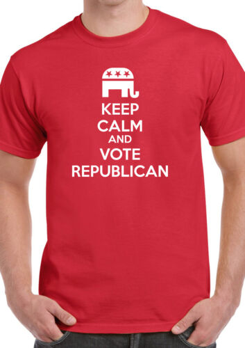 KEEP CALM AND VOTE REPUBLICAN T-SHIRT TRUMP PENCE PRESIDENT 2016 USA