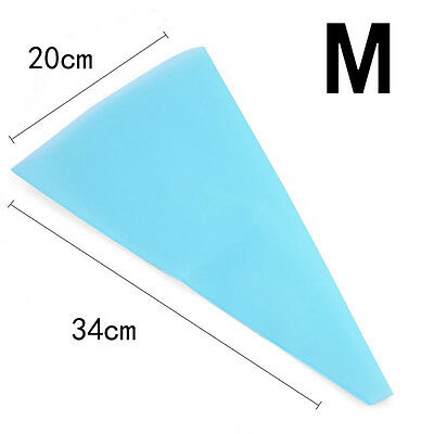 3Size Silicone Reusable Icing Piping Cream Pastry Bag DIY Cake Decorating Tools