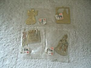 Vintage-Lot-Of-4-034-NOS-034-G-Duchin-Metal-Ornaments-034-BEAUTIFUL-COLLECTIBLE-ITEMS