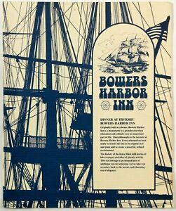 1981 Vintage Menu THE BOWERY RESTAURANT Bowers Harbor Inn Traverse City Michigan