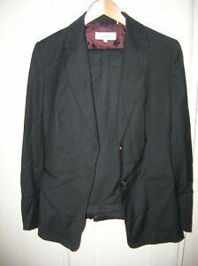 $320 Calvin Klein Women's 10 Black 2 piece 2 Button Work Pant Suit CS6BP031 NEW