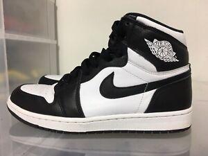Air-Jordan-Retro-1-High-OG-Size-9-5-White-Black
