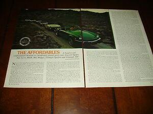 1976 Mgb Vs Mg Midget Vs Fiat X19 Vs 124 Spider Vs Triumph