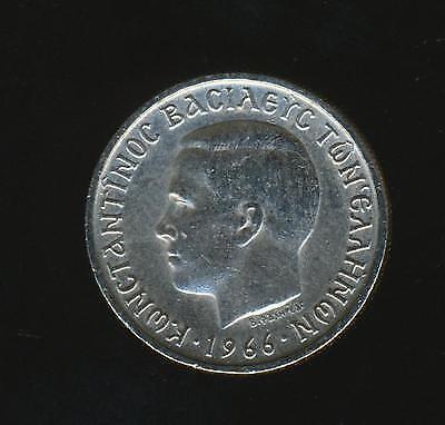Greece 1 Drachma 1966 F-VF Hercules King Constantine II KM#89 Greek Coin {Offer}