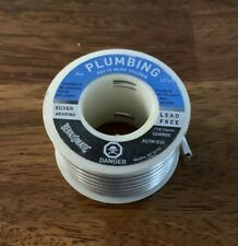 New Listingnew Bernzomatic 8 Ounce Plumbing Solid Wire Solder 3mm Silver Bearing Lead Free