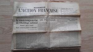 Journal Nationalistische L Aktion Französischem 26 November 1934 Nr. 330 ABE