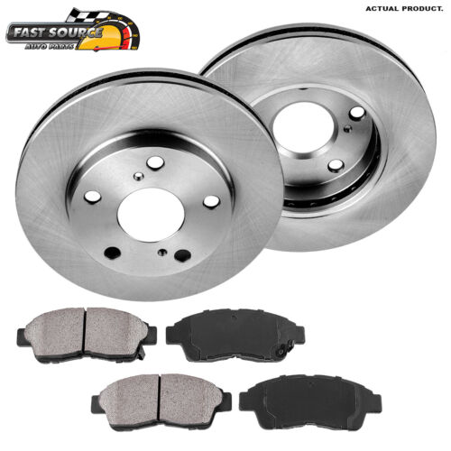 Front Brake Rotors Ceramic Pads For 92 93 94 95 1996 1997-2001 Toyota Camry