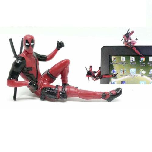 Deadpool 2 Mini PVC Figure Model Toys Car Computer Screen Decoration Cute