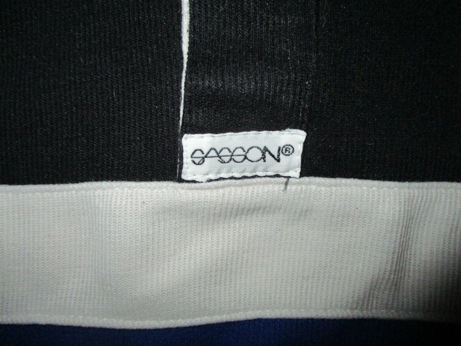 vtg 70s 80s SASSON BRAND POLO SHIRT Short Sleeve … - image 3