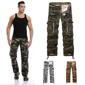 Mens-Military-Combat-Trousers-Camouflage-Cargo-Camo-Army-Casual-Work-Pants