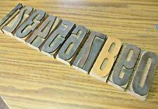 Antique Letterpress Print Type Wood Numbers 5 Print Blocks Printing Decor