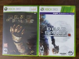 USED - Dead Space 1 + 3 - XBOX 360 - Lot of 2 Bundle - Free Shipping - 1B