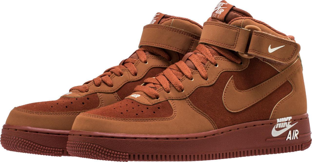 Men's Nike Air Force 1 Mid '07 Dark Russet Guava Ice Sizes 8-13 NIB 315123-207