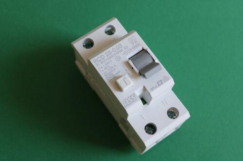 FI Schalter ASS NEU FI Fehlerstromschutzschalter Schutzschalter 25A 0,03 2pol