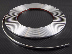 8mm-1-2-cm-x-5m-Chrome-Styling-Strip-Trim-Car-Van-Truck-Boat-Pickup-ADHESIVE