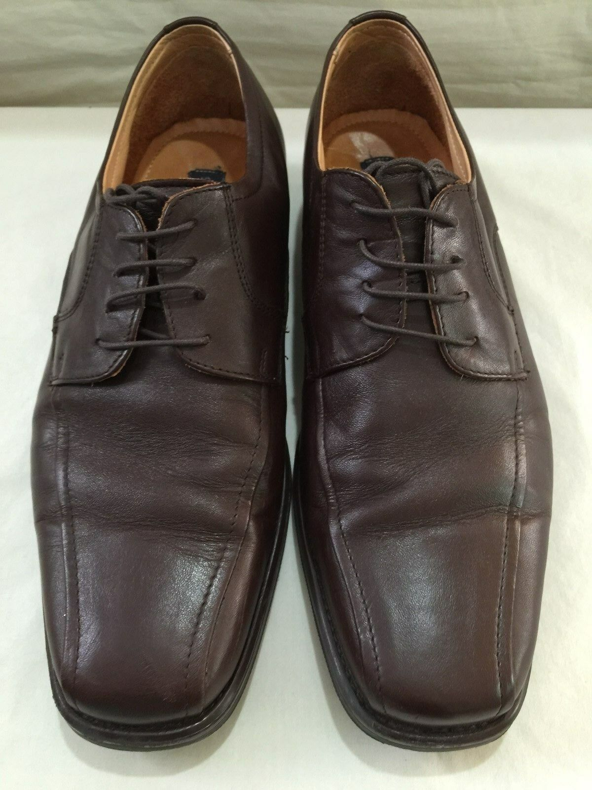 Giorgio Brutini Mens 10.5 M Brown Leather Oxford Dress shoes
