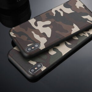 Army-Camo-Military-Camouflage-Silicone-Soft-Case-Cover-For-iPhone-X-8-6s-7-Plus