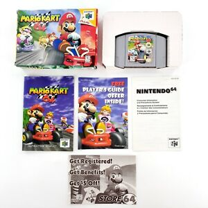 Mario-Kart-64-Nintendo-64-1997-Authentic-Near-Complete-Tested-amp-Works