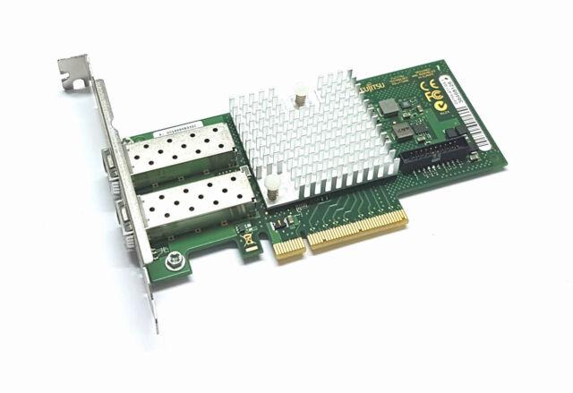 Fujitsu d2755-a11 10 Gigabit 10gbe Sfp + Dual Port Server Carte Réseau Intel x520-da2 FP