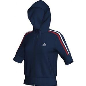 Olympic Hoody Vest Nuovo Ovp Retro Jacket Adidas 34 taglia Blue Training d7fwq5