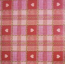 ROSSO & Marrone Tartan Cuore Stampa PVC TABLECLOTH tessuto incerato tessuto * AL METRO