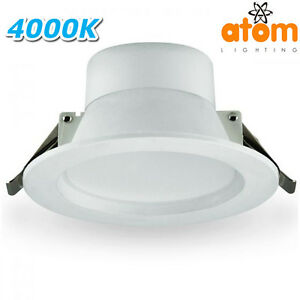ATOM AT8037 8W LED Dimmable Downligh Kit Cool White 4000K IP44