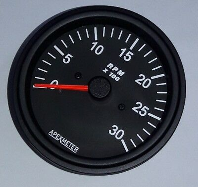 12 Tachometer//Hourmeter 0-14000 RPM Ignition Coil Driven Gauge Black Bezel