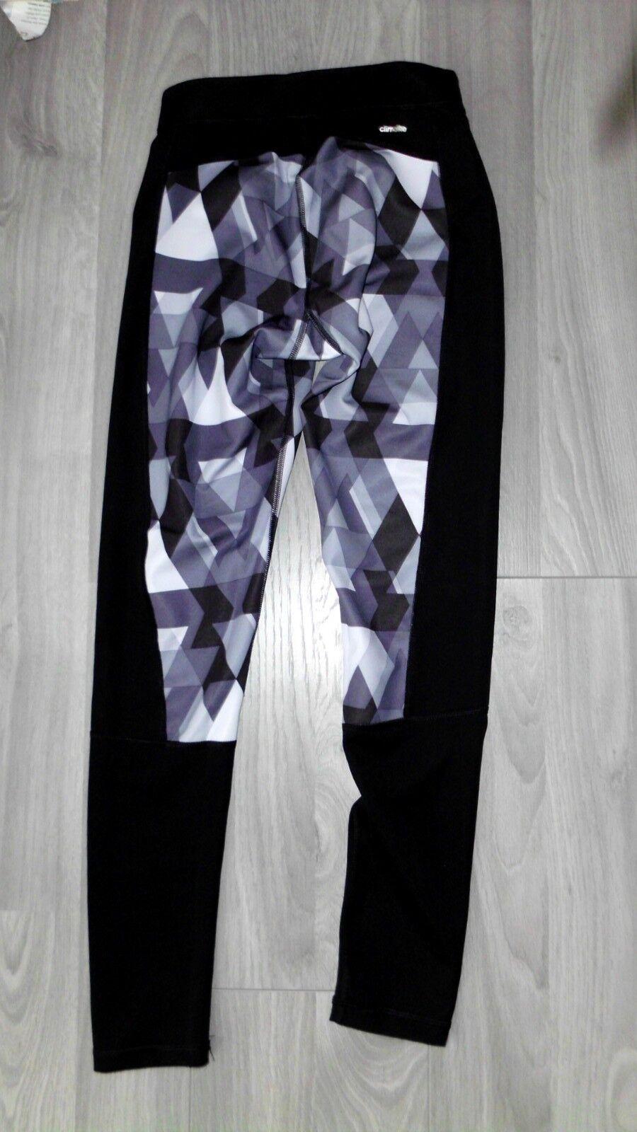 Adidas Leggins X S NEU schwarz Weiß Grau Fitness Sport Hose Blogger Climalite  | Online-Shop