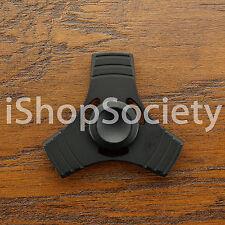 Metal 3 Line Tri Hand Spinner Figet Spinners EDC Gyro Desk Toy ADHD -USA- BLACK