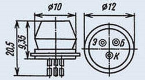 GT403V = ASY77  Germanium Transistor USSR  Lot of 15 pcs 1T403V