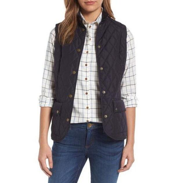 begrepp ha ett finger i pajen Att redigera  NWT Barbour Womens Floral Saddleworth Quilted Vest Jacket NAVY ...