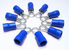 10x Ring Kabelschuh M4 blau Steckhülse Ring Öse 16-14  1,5-2,5mm² Aderendhülsen