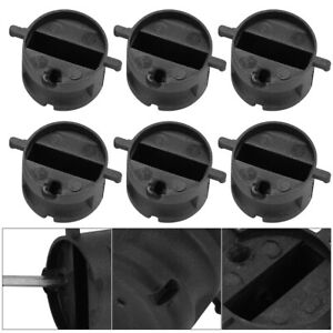 6PCS Surfboard Tail Rudder Slot FCS FIN G5 Plugs Box with Screw Key Wrench Black