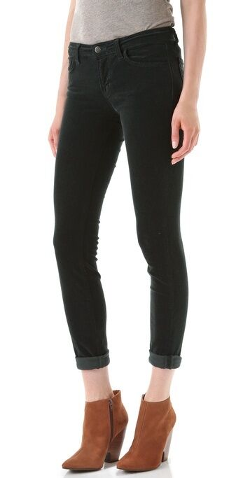 NWT J Brand 511 Mid-Rise Skinny cord pants in conifer