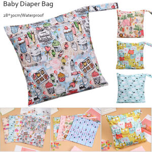 Waterproof Zip Wet Dry Bag for Baby Infant Cloth Diaper Nappy Pouch Reusable
