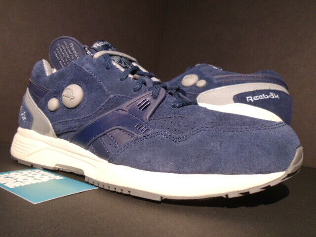 REEBOK PUMP RUNNING DUAL NAVY blueE GREY PAPER OFF WHITE V53787 NEW 9.5
