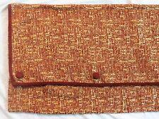 Pair JC Penney Burgundy/Red Barcelona Pocket Button Design Valances 107x14.5