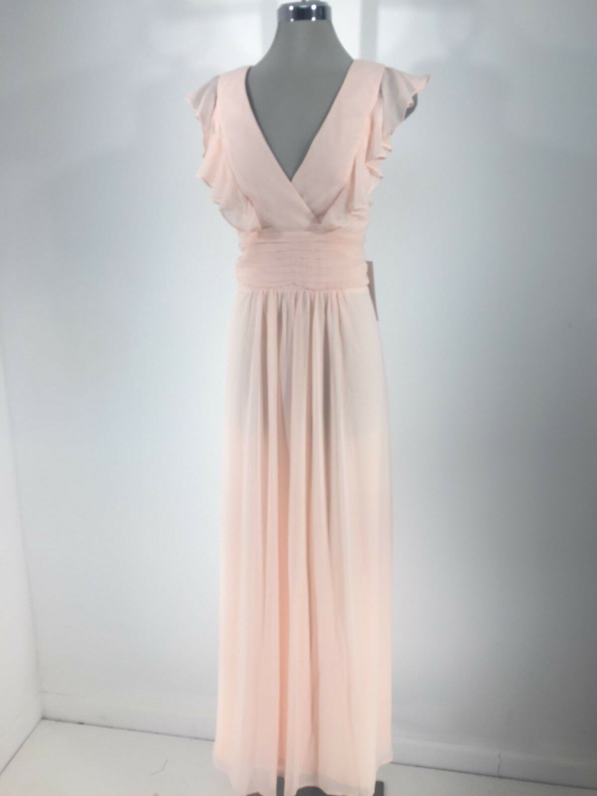 REVERIE NWT Pink Formal Women's Dress Ruffle Formal Fit & Flare size 12 14 16 18