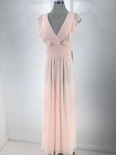 REVERIE NWT Pink Formal Women/'s Dress Ruffle Formal Fit /& Flare size 12 14 16 18