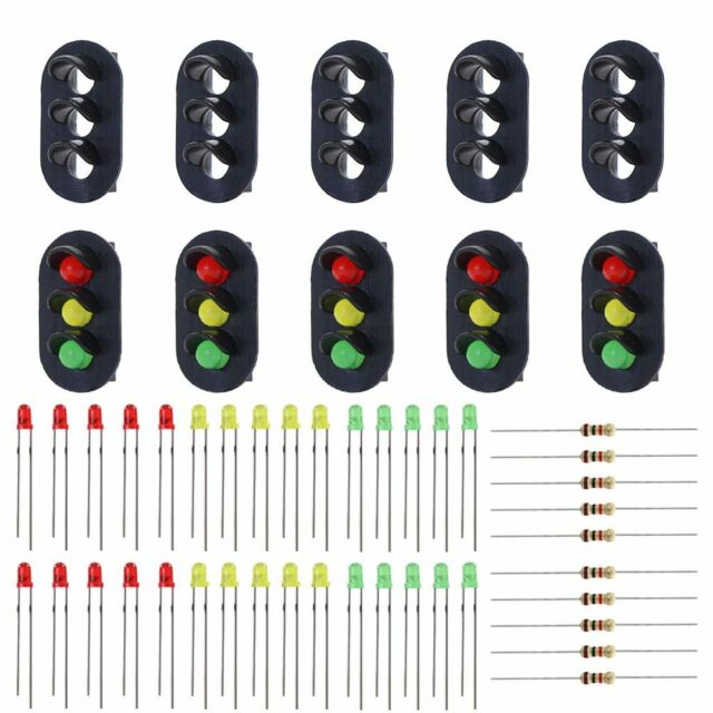Evemodel JTD21 10 Sets Target Faces with LEDs Railway Dwarf Signal